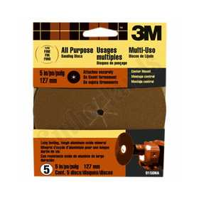 3M 9150 5 in Center Mount Sandpaper Disc 120 Grit