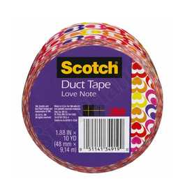 3M 910-HRT-C Duct Tape Pattern Hearts 1.88x10