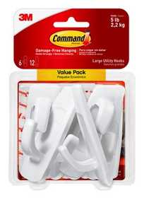 Command 17003-VP-3PK Large Utility Hooks MultiPack