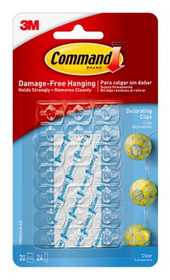 Command 17026CLR Clear Decorating Clips