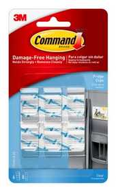Command 17210CLR Clear Fridge Clips