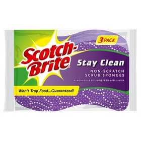 Scotch-Brite 20203-8 SPONGE SCRUB NONSCRATCH 3PK