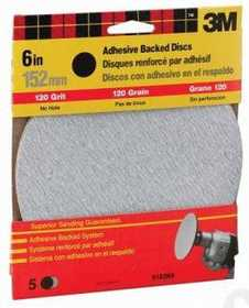 3M 9182 6 in Adhesive Backed Sanding Disc 120 Grit