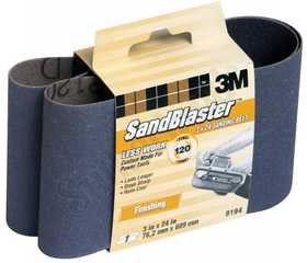 3M 9194 3 in X 24 in SandBlaster Purple Finishing Sanding Belt 120 Grit