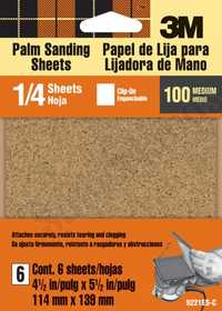 3M 9221NA Sand Sheet Palm Med 100 Clipon