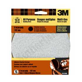 3M 9181 6 in Adhesive Backed Sanding Disc 180 Grit