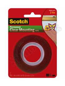 3M 4010 Tape Mount Heavy Duty 1x50 Clear Scotch