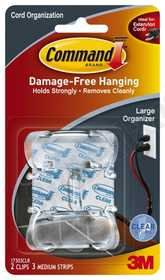 3M 17303CLR Cord Clip Command Large Clear