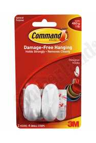3M 17082 Command Small Hook