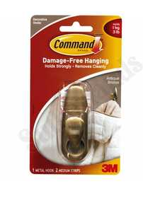 3M FC12-AB Command Forever Classic Antique Bronze Medium Metal Hook