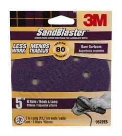 3M 9522ES DISC HOOK&LOOP 8HOLE 5