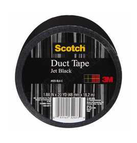 3M 920-BLK-C Colored Duct Tape Black 1.88x20yd