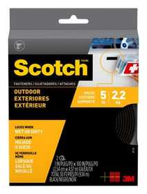 Scotch RF5761 Outdoor Fasteners, Black, 1 in x 15 ft