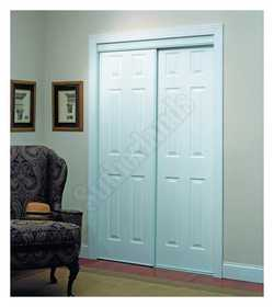 Home Decor Innovations 24-0012 6 Panel By-Pass Door 106 White 7180
