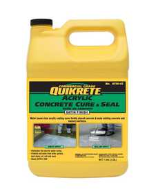 Quikrete 8730-02 Acrylic Concrete Cure & Seal Satin Finish Gallon