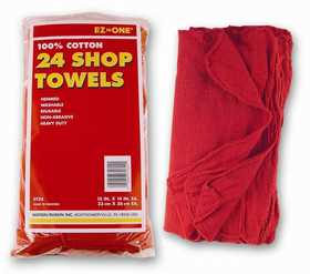 Nation Ruskin 42-ST24HD Red Cotton Shop Towels 24pack