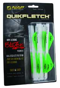 NAP/New Archery Products 60-178 Quikflch W/Blazer Vanes Wgg6pk