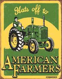 Nostalgic Images CD-1173 American Farmer Metal Sign