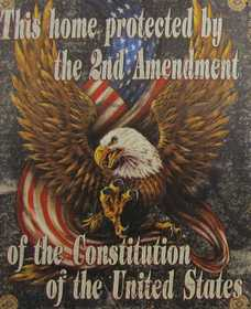 Nostalgic Images CG-815 2nd Amendment Metal Sign