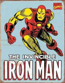 Nostalgic Images PD-1650 Iron Man Retro Metal Sign
