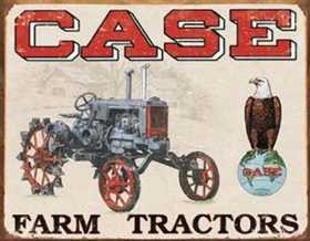 Nostalgic Images TD-1230 Case Farm Tractors Metal Sign