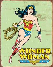 Nostalgic Images PD-1642 Wonder Woman Retro Metal Sign