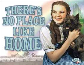 Nostalgic Images CD-1729 No Place Like Home Metal Sign