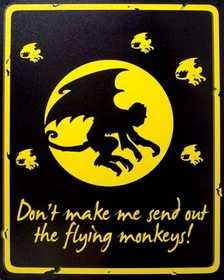 Nostalgic Images CG-750 Flying Monkeys Metal Sign