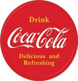 Nostalgic Images CC-1658 Coke Button Logo Metal Sign