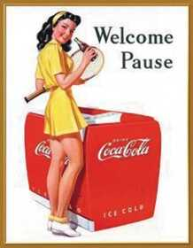 Nostalgic Images CC-1055 Coca-Cola Welcome Pause Metal Sign