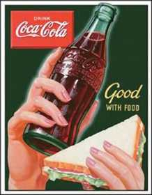 Nostalgic Images CC-1226 Coca-Cola Good With Food Metal Sign