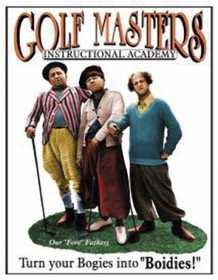 Nostalgic Images PD-696 The Three Stooges Golf Masters Metal Sign