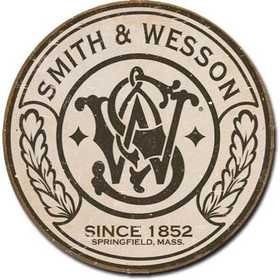 Nostalgic Images OD-1608 Smith And Wesson Since 1852 Round Metal Sign
