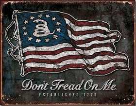 Nostalgic Images CD-1873 Don't Tread On Me Vintage Flag Metal Sign