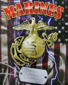 Nostalgic Images CG-782 Marines Dog Tags Metal Sign
