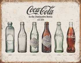 Nostalgic Images CC-1839 Coca-Cola Bottle Evolution Metal Sign