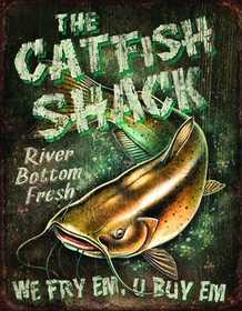 Nostalgic Images OD-1912 The Catfish Shack Metal Sign