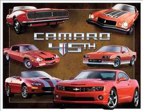 Nostalgic Images TD-1782 Camaro 45th Anniversary Metal Sign