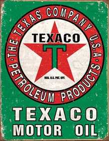 Nostalgic Images TD-1927 Texaco Motor Oil Metal Sign