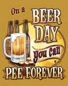 Nostalgic Images CG-775 On A Beer Day Metal Sign
