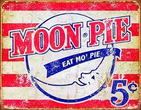 Nostalgic Images HD-1922 Moon Pie Metal Sign