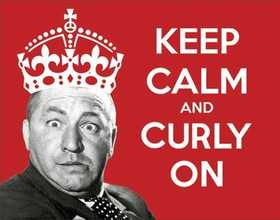 Nostalgic Images PD-1958 The Three Stooges Keep Calm And Curly On Metal Sign