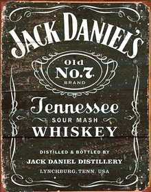 Nostalgic Images BD-1916 Jack Daniels Weathered Logo Metal Sign