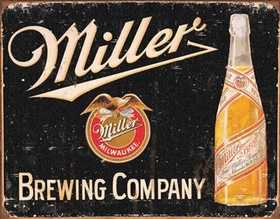 Nostalgic Images BD-1649 Miller Brewing Company Metal Sign