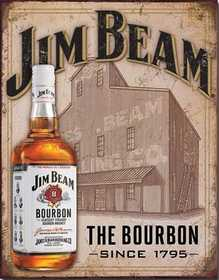Nostalgic Images BD-1887 Jim Beam The Bourbon Metal Sign