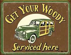 Nostalgic Images CD-1192 Woody Service Metal Sign