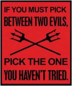 Nostalgic Images CG-805 Two Evils Metal Sign