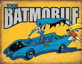 Nostalgic Images PD-2028 The Batmobile Metal Sign