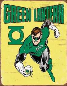 Nostalgic Images PD-1735 Green Lantern Metal Sign