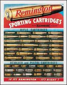 Nostalgic Images OD-1001 Remington Cartridges Metal Sign